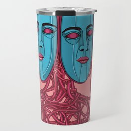 Four Faces Travel Mug