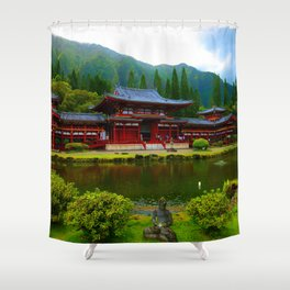 Temple Valley Buddah ... By LadyShalene Shower Curtain