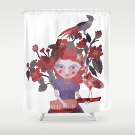 The flamingo inspire me... Shower Curtain