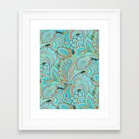 paisley Framed Art Prints featuring paisley, paisley by Ariadne