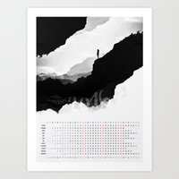 calendar Art Prints featuring White Isolation 2016 Calendar by Stoian Hitrov - Sto