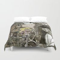 steampunk Duvet Covers featuring Steampunk City by Felis Simha