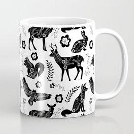 Folk Art Forest Animals Coffee Mug