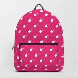 HOT PINK & WHITE BOMB DIGGITYS ALL OVER LARGE Backpack