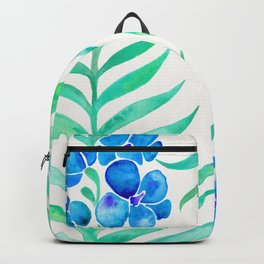 Blooming Orchid – Mint & Blue Palette Backpack