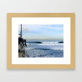 Christmas Swell With Jaggy Edges Framed Art Print