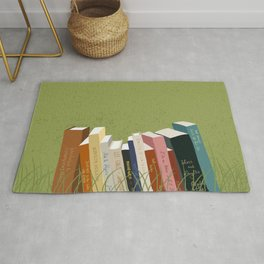 Books in Nature Rug