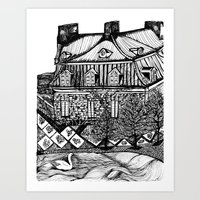 copenhagen Art Prints featuring Copenhagen by intermittentdreamscapes