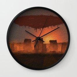 UFO Stonehenge Wall Clock