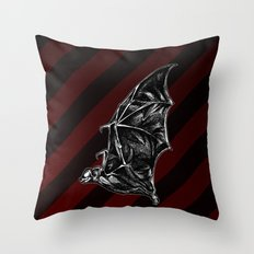 Leather Wings Throw Pillow