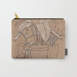 black and white house plants Carry-All Pouch