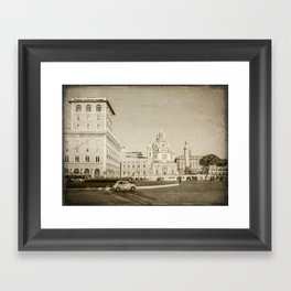 Eternal City (Plaza Venezia) Framed Art Print