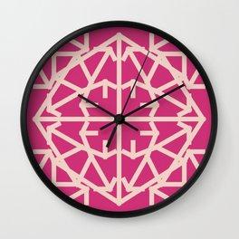 Diamond Bug Pale Dogwood - Pink Yarrow Wall Clock