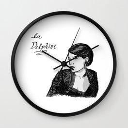 Delphine Seyrig Portrait Wall Clock