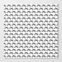 Grey Dirt Bikes Canvas Print