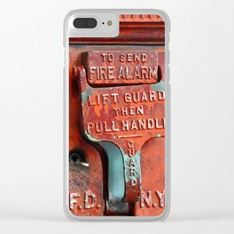 new york city ... fire alarm Clear iPhone Case