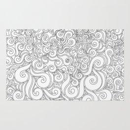Black & White Swirly 1 Rug