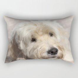 Dog Goldendoodle Golden Doodle Rectangular Pillow