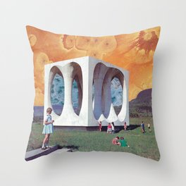 Cube of Eternity Throw Pillow