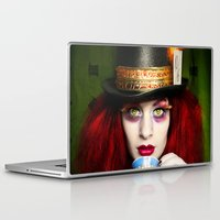 mad hatter Laptop & iPad Skins featuring The Mad Hatter by María Lawliet