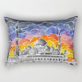 Masjid Kristal Mosque, Kuala Terengganu, Malaysia Rectangular Pillow