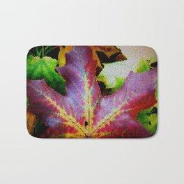 Autumn Leaves - Colored Glass Bath Mat