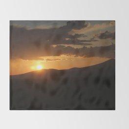 Smith Rock Sunrise Throw Blanket