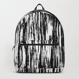 Ikat Streaks in Ink Black Backpack