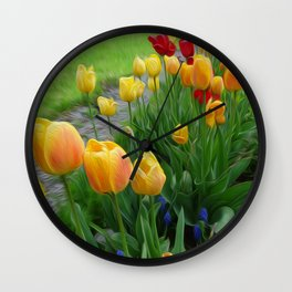 Tulipops Lollipops Wall Clock