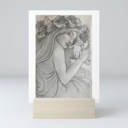 Shady lady Mini Art Print