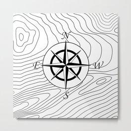Topographic - Compass #797 Metal Print