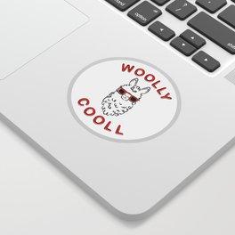 Woolly Cooll Cute Llama Pun Sticker