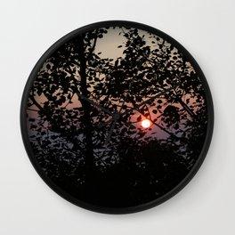 Door County Sunset Wall Clock