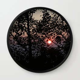 Door County Sunset Wall Clock