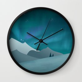 Northen lights Wall Clock