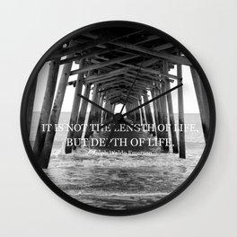 Depth of Life Wall Clock