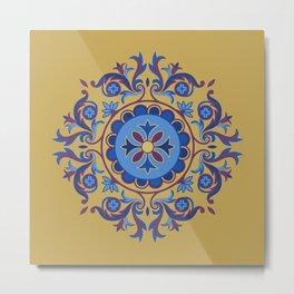 Ottoman Floral Art Metal Print