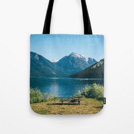 Picnic at Wallowa Lake, Oregon Tote Bag