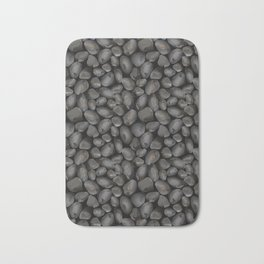 Dark glossy pebbles Bath Mat