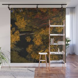 Autumn Leaves and Stream Wall Mural