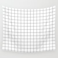 grid Wall Tapestries featuring grid by 550am