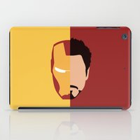 house stark iPad Cases featuring Iron Stark by Nick Kemp