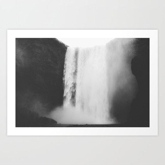 Black waterfall Art Print