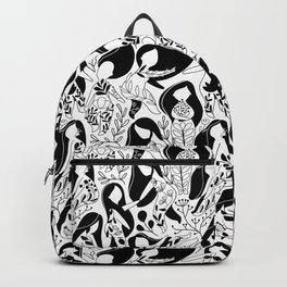 Floral woman. Backpack