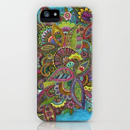 Evie's Garden Paisley iPhone Case