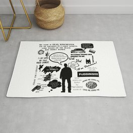 Dean Winchester Quotes Rug
