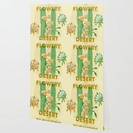 My Flowery Cactus Desert Wallpaper