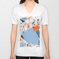 swedish V-neck T-shirts featuring Swedish Lava by Pearlyn Chiam