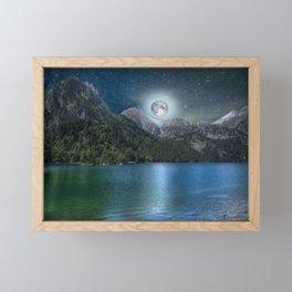 Fantasy Lake Moon Light Framed Mini Art Print