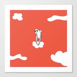 Flying Sloth by Amanda Jones Canvas Print